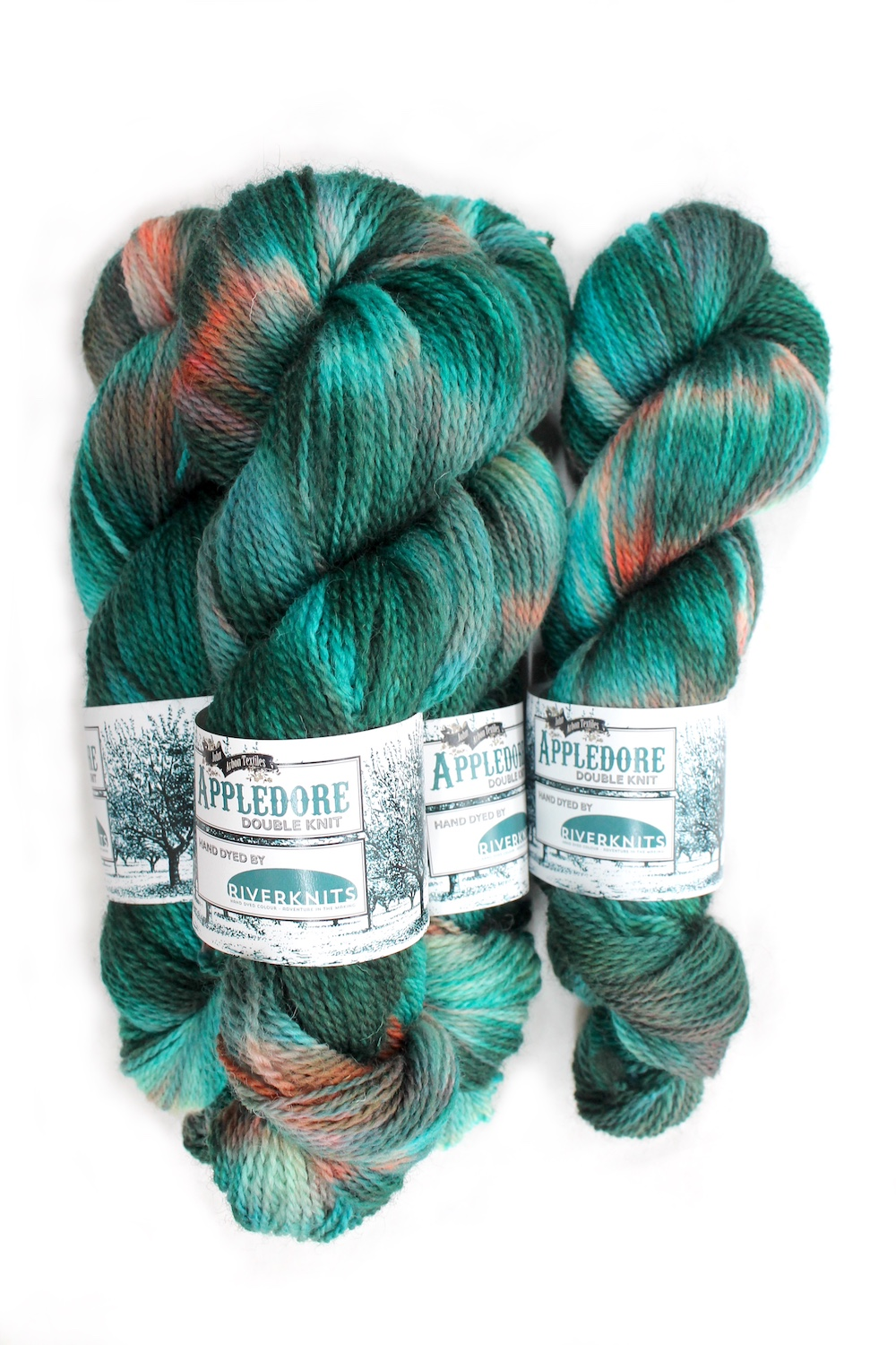 Skeins of Appledore in the Avalon colourway
