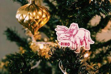 RINO Procrastinator's Christmas Tree with RINO/dino sticket