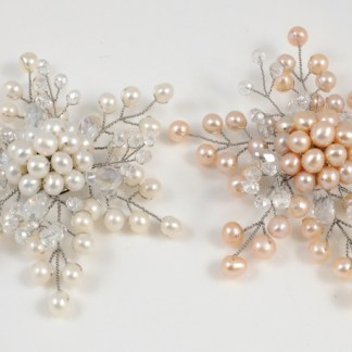 Snowflake Pearl Brooches
