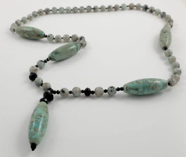 Barrel Jasper Y necklace