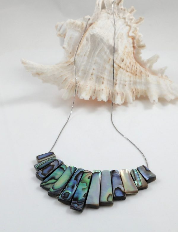 Abalone Shell stick necklace
