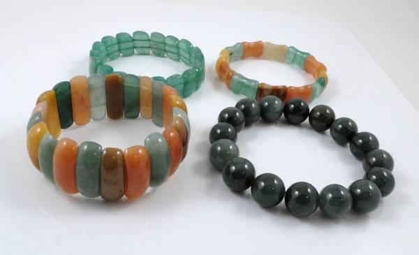 Elastic Jade Bracelets
