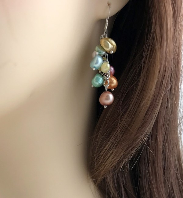 summer pearl drop earrings