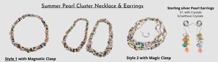Summer pearl necklace earring slide