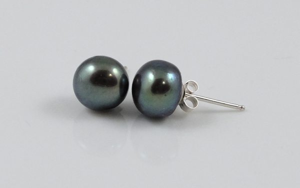 Peacock Pearl Silver Studs
