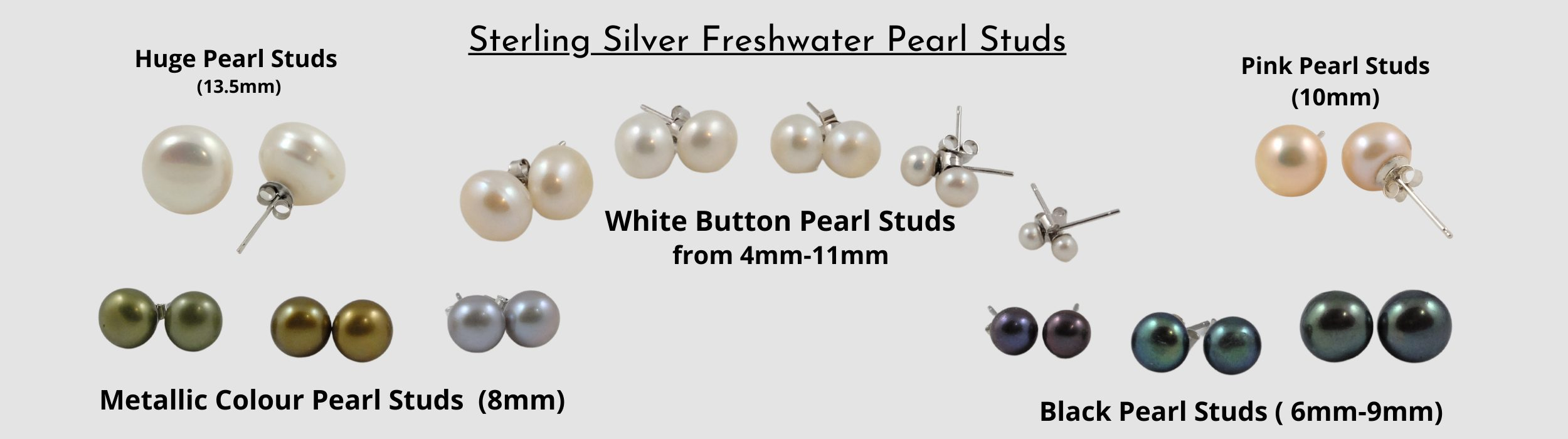 Freshwater Pearl & Sterling Silver Studs