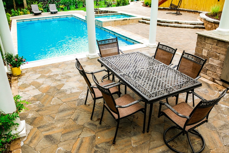 how much swimming pool patio do i need