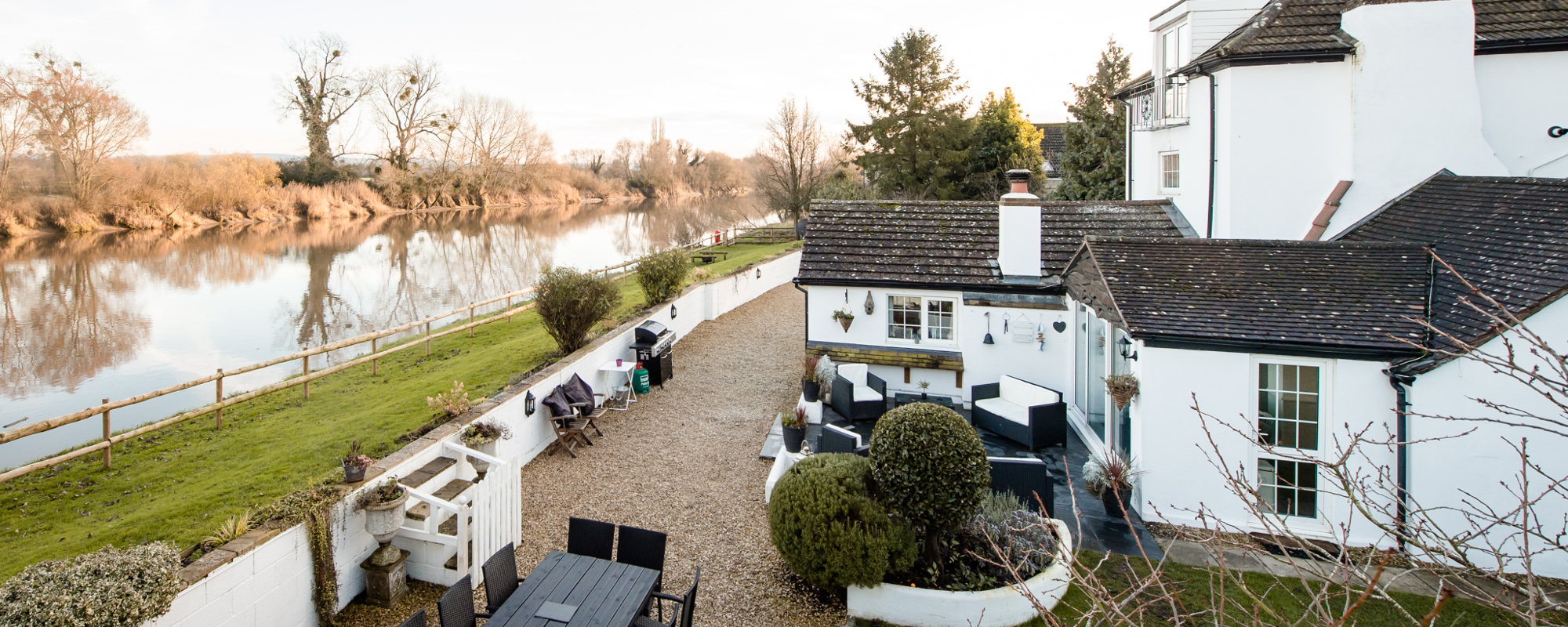 View of the River Severn from the annexe at Riverside Party House