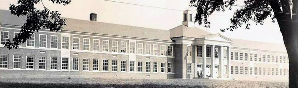 Riverside High School shortly after being built in 1949 (Painesville Township, Ohio).