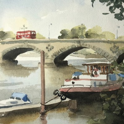 Kew Bridge by Rod Pearce Riverside Gallery Barnes