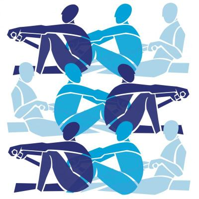 Rowers in Blues