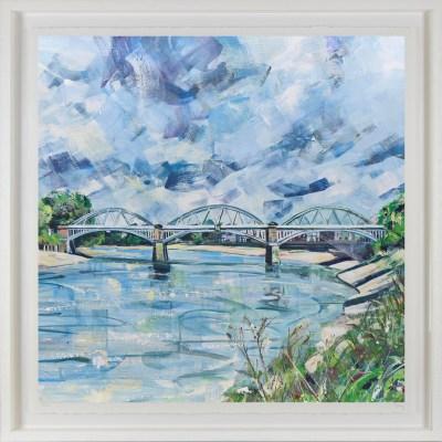 Barnes Bridge print by Nadia Day Riverside Gallery Barnes