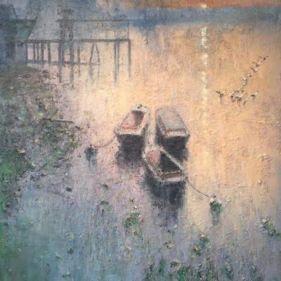 Evening Lights by Rod Pearce Riverside Gallery Barnes