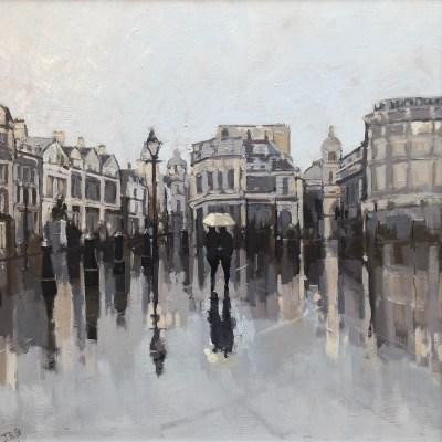 Trafalgar Square. Rainy Day by Jennifer Greenland Riverside Gallery Barnes
