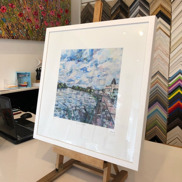 Barnes Towpath limited edition print 50x50cm by Nadia Day