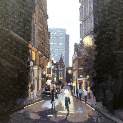 London Rush by Jennifer Greenland, original painting, Riverside Gallery Barnes