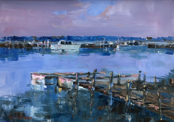 Southwold Harbour by Dan Walmsley Riverside Gallery Barnes