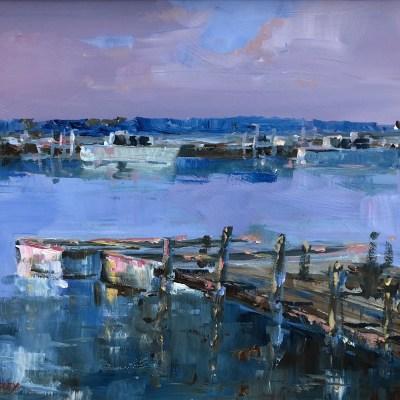 Southwold Harbour by Dan Walmsley Riverside Gallery Barnes
