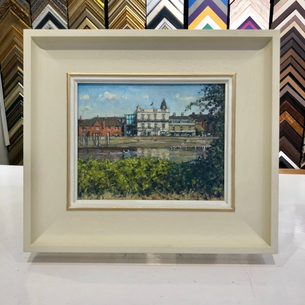 Towards The Bulls Head by Rod Pearce, with frame Riverside Gallery Barnes