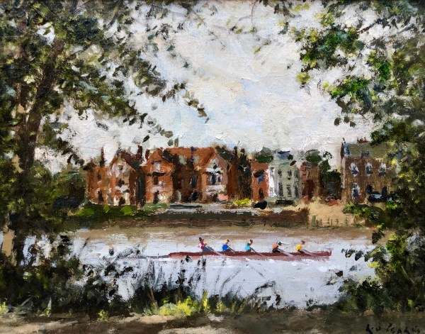 Rowing Towards Barnes by Rod Pearce