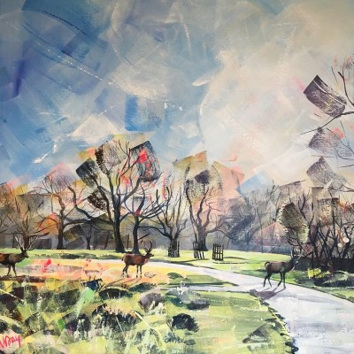 Park Study by Nadia Day, Painting of Richmond Park in London