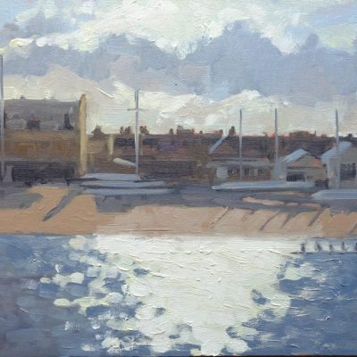 Rowing Boats, Putney Embankment by Jennifer Greenland