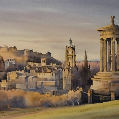 The Golden Light of Morning, Edinburgh by Oliver Pyle