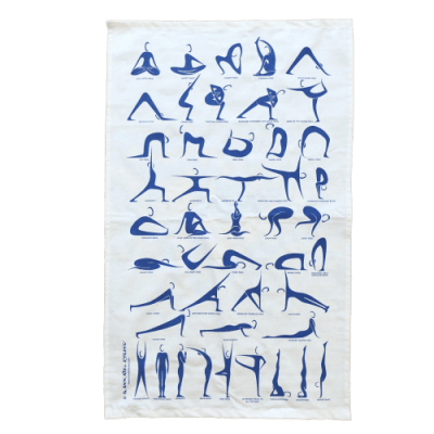Yoga Tea Towel by Annabel Eyres