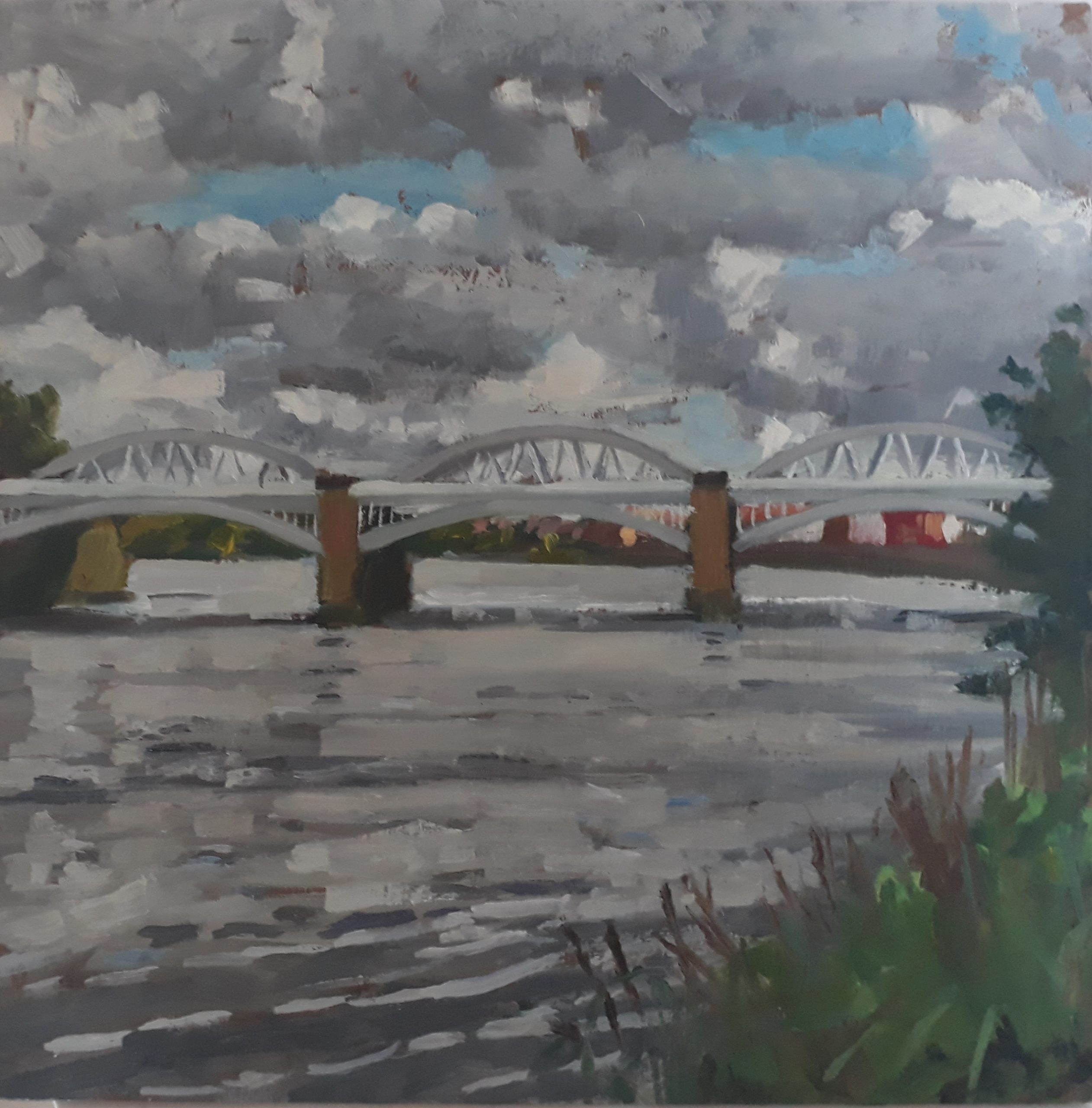 Storm Clouds over Barnes Bridge