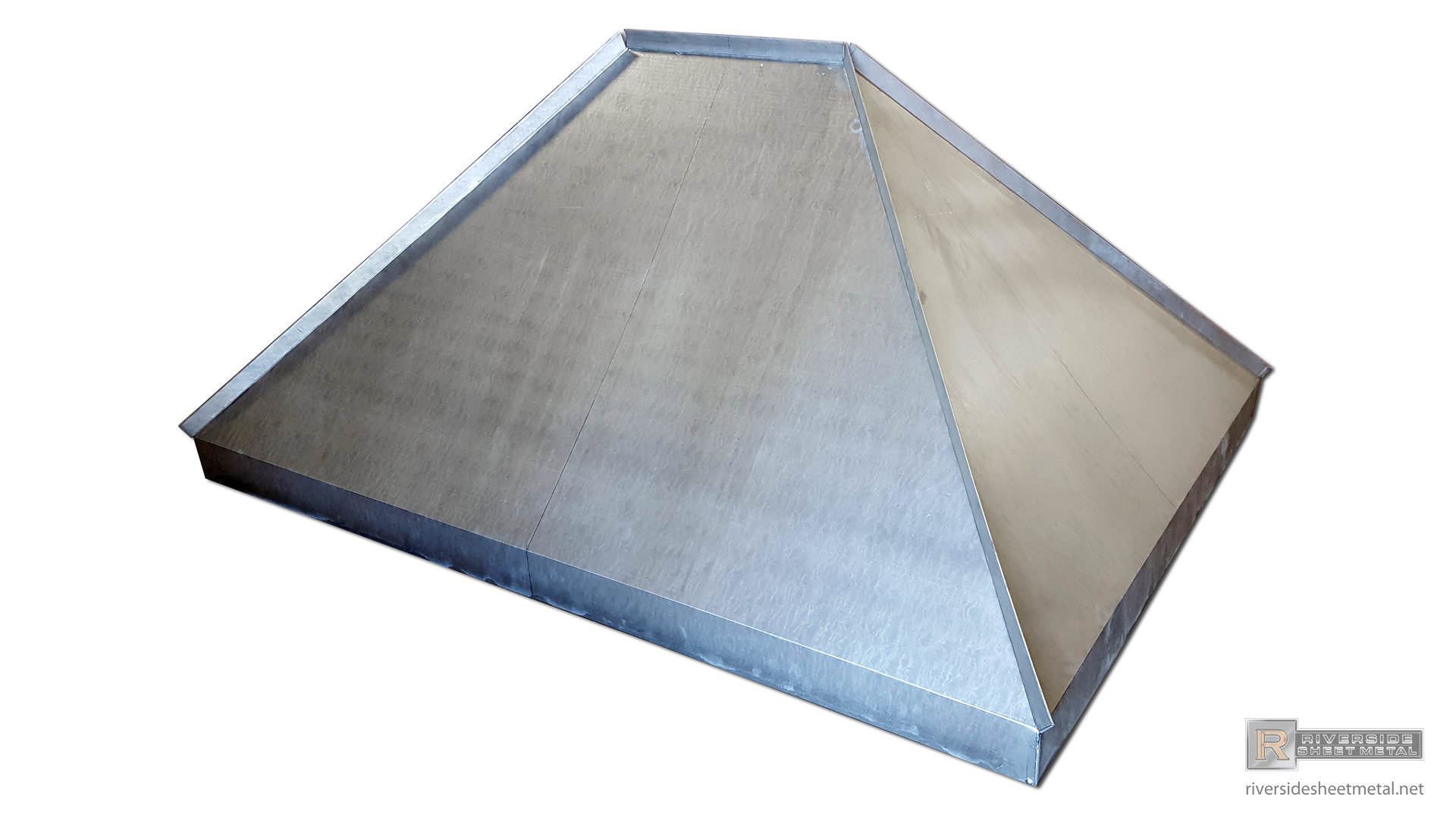 Non venting chimney cap with standing seam panels  NV002