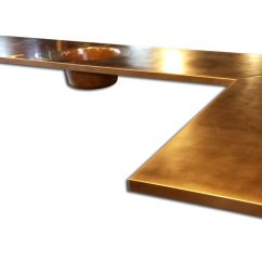 Hammered Copper Backsplash Kitchen Floor Tile Patterns Counter Tops / Table - Kitchen, Island, Bars ...