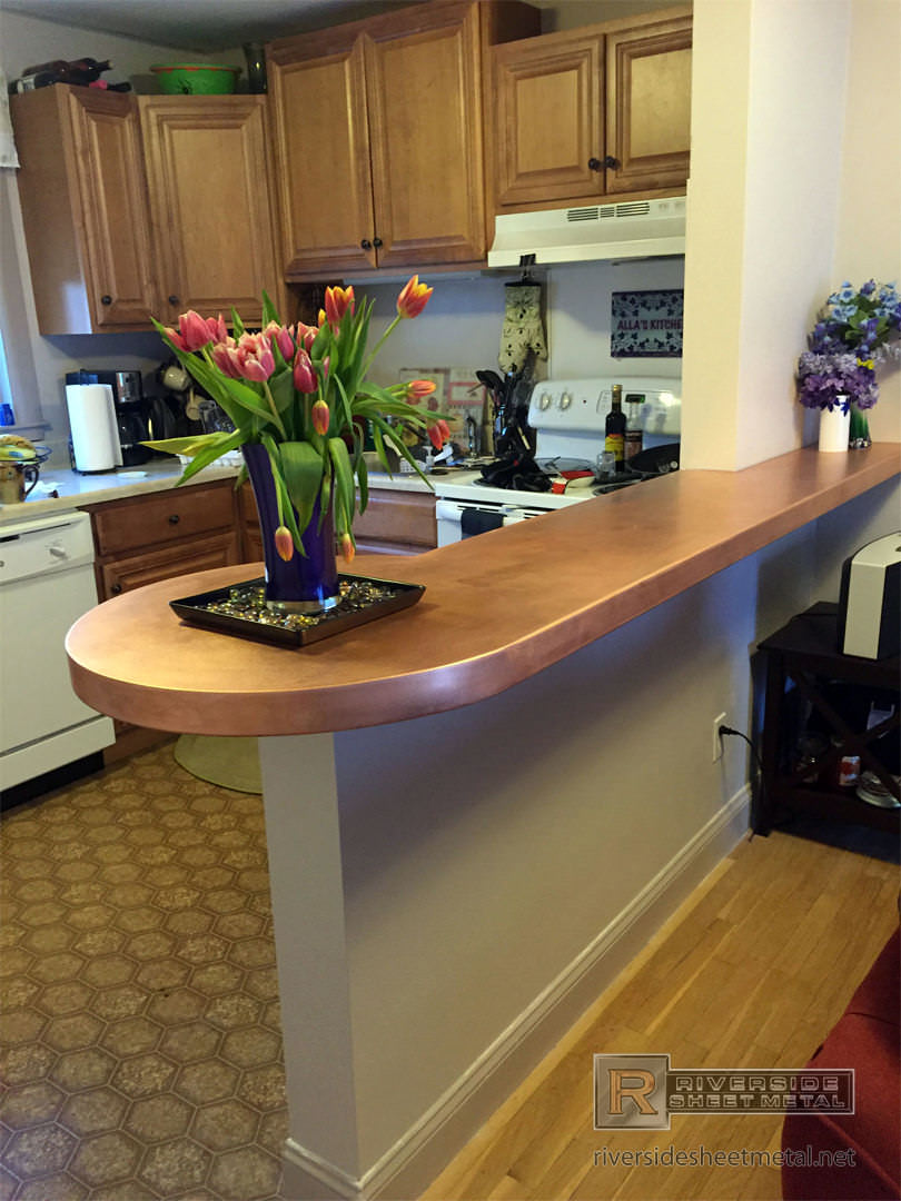 Copper Counter Tops  Table Tops  Kitchen Island Bars