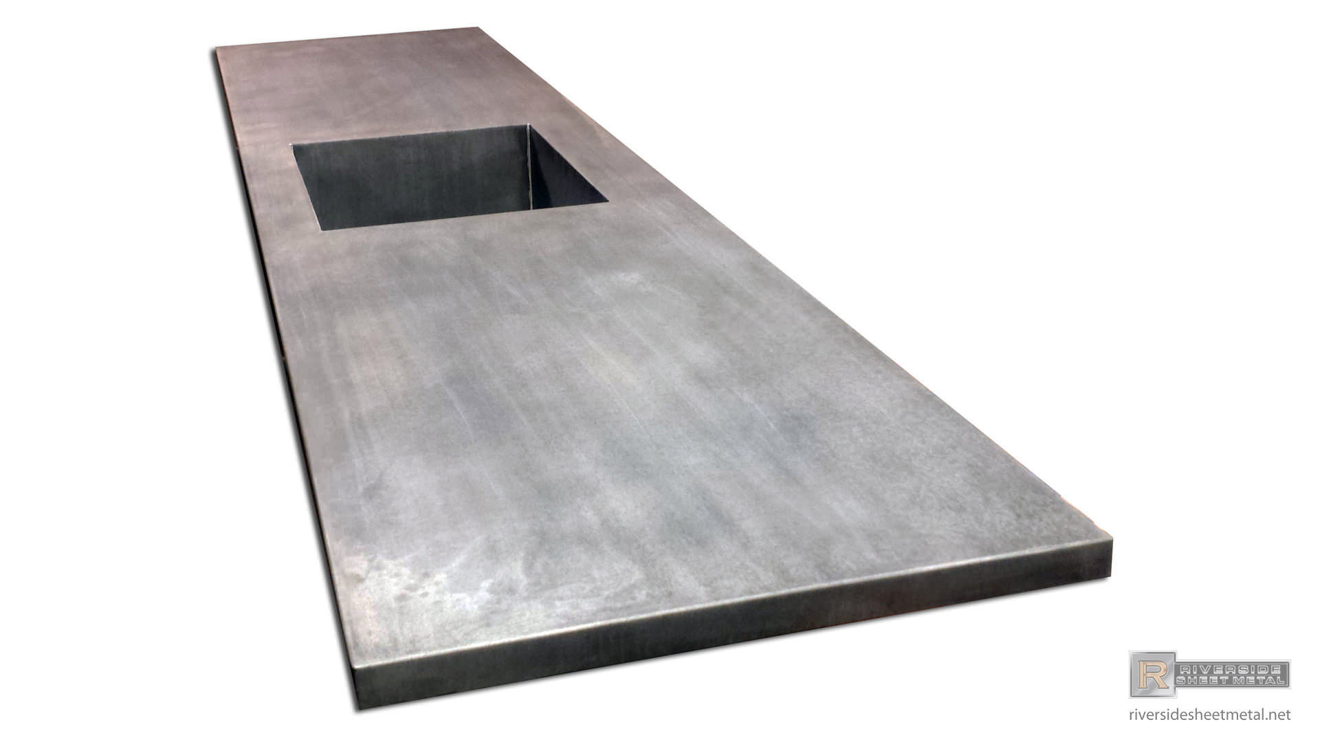 kitchen sink types materials paints zinc counter top with integrated & dark patina matte ...