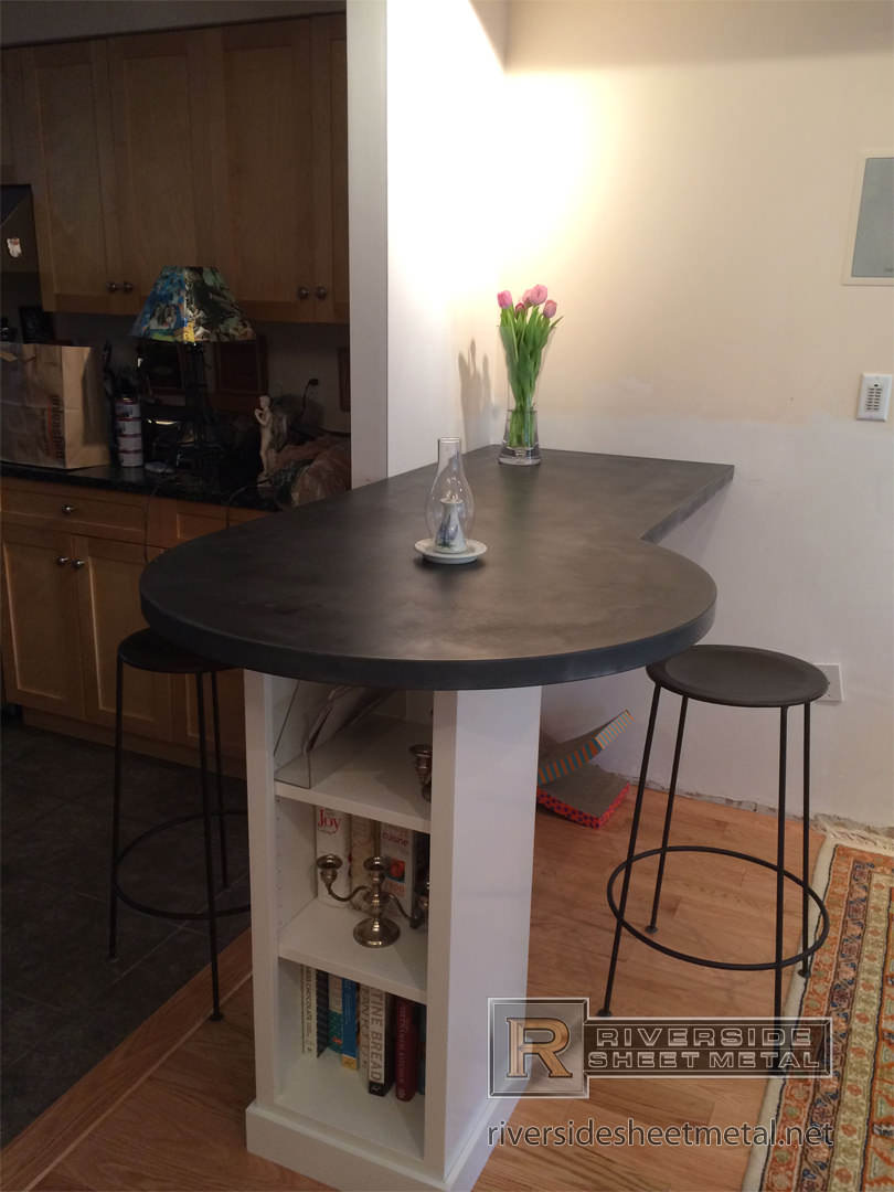 Zinc Counter Tops  Table Tops  Kitchen Island Bar  Boston MA