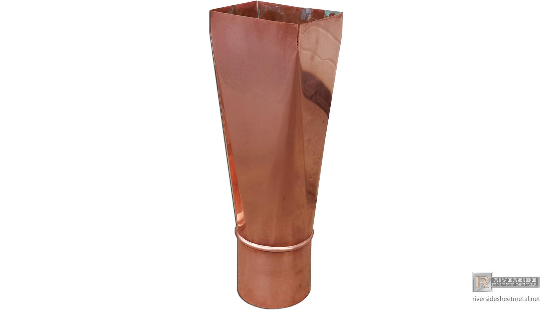 Downspouts  Copper Aluminum Square Corrugated  Round
