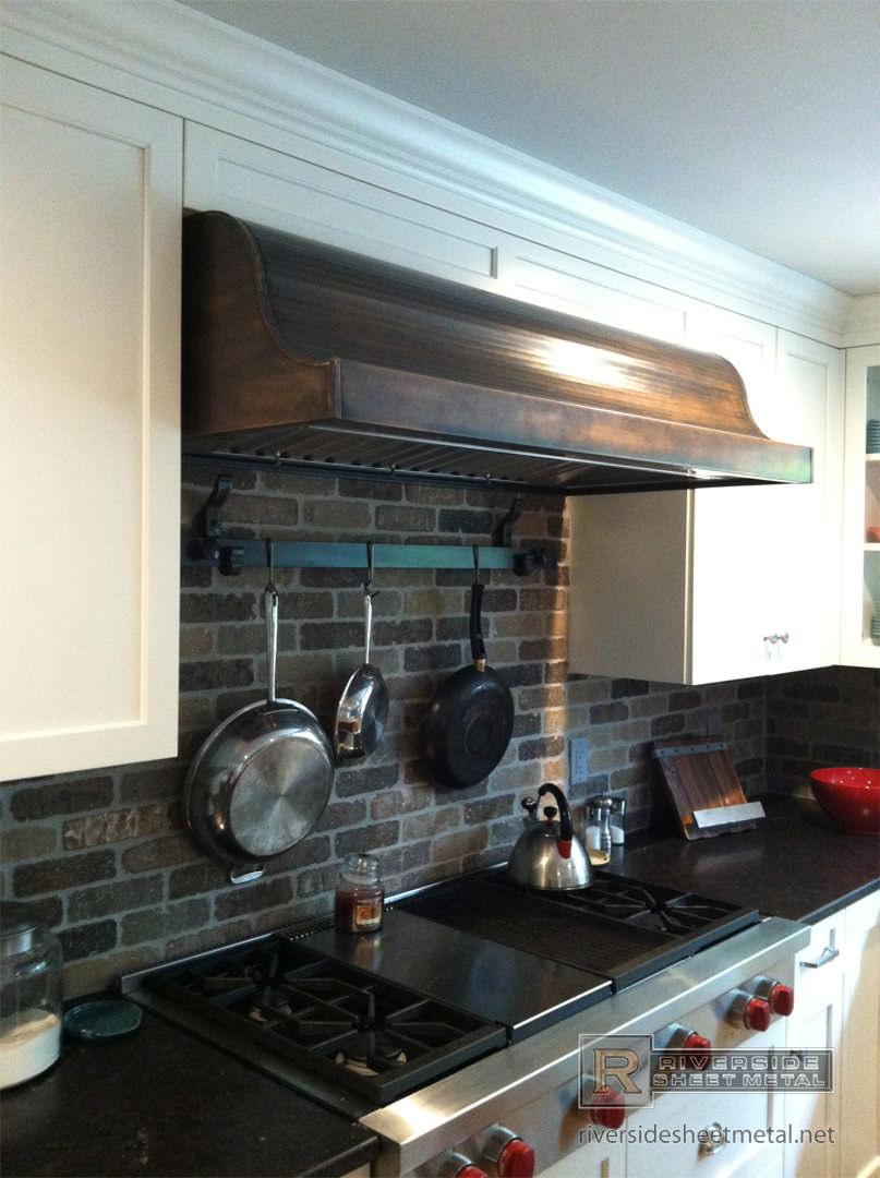 kitchen hood vents floor to ceiling cabinets copper vent restoration job - custom riverside