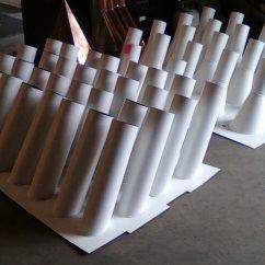 Kitchen Hood Vents Round Sink Custom White Aluminum Stink Pipes - Stack