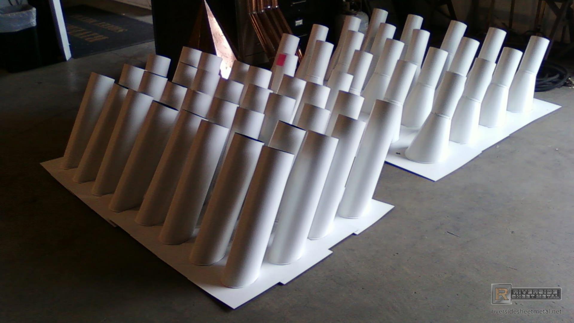 kitchen hood vents outdoor kitchens kits custom white aluminum stink pipes - stack