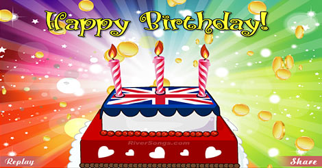 International Birthday Cards & Worldwide Birthday Cake