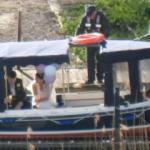 Wedding Boat Bride & Groom