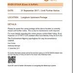 ADVISORY Notice Langham Portage