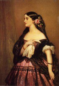 "alt=""Adelina Patti Portrait by Franz Xaver Winterhalter in Public Domain"""