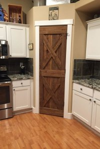 Pantry Door & Barn Door On Kitchen Pantry