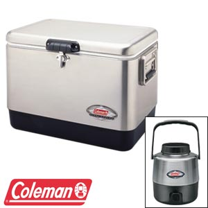 Coleman® Stainless Steel Cooler with   Stainless Steel Jug