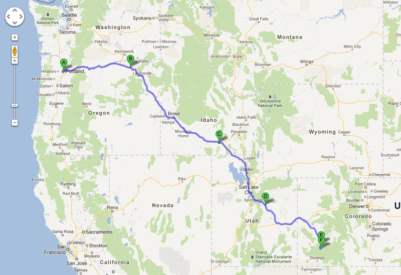 Portland to silverton