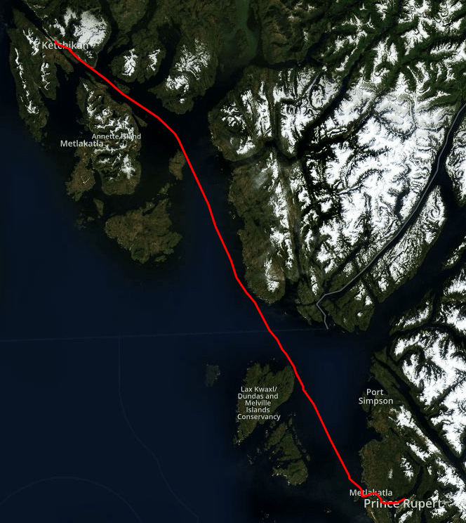 Prince rupert to ketchikan