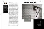 """A sinistra estratto dell'editoria di Stefano Cuzzocrea su LiQMag n. 2 """"NEL DIVENIRE"""". A destra pagina di apertura del servizio di Nicola Labate."""