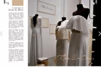 Particolare del servizio redazionale realizzato nell'atelier Elisa De Bonis in Piazza Bilotti a Cosenza.