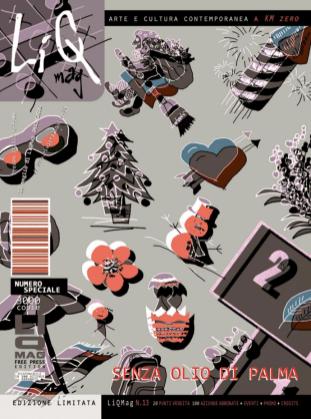 Cover. Da una serie di disegni grafici realizzati ad hoc per LiQMag da Valentina Greco, rielaborati e adattati per la copertina da Piergiorgio Greco.