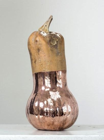 11. Namsal Siedlecki_Squash, 2015_squash, copper_40 cm x 20 cm x 20 cm_courtesy the artist